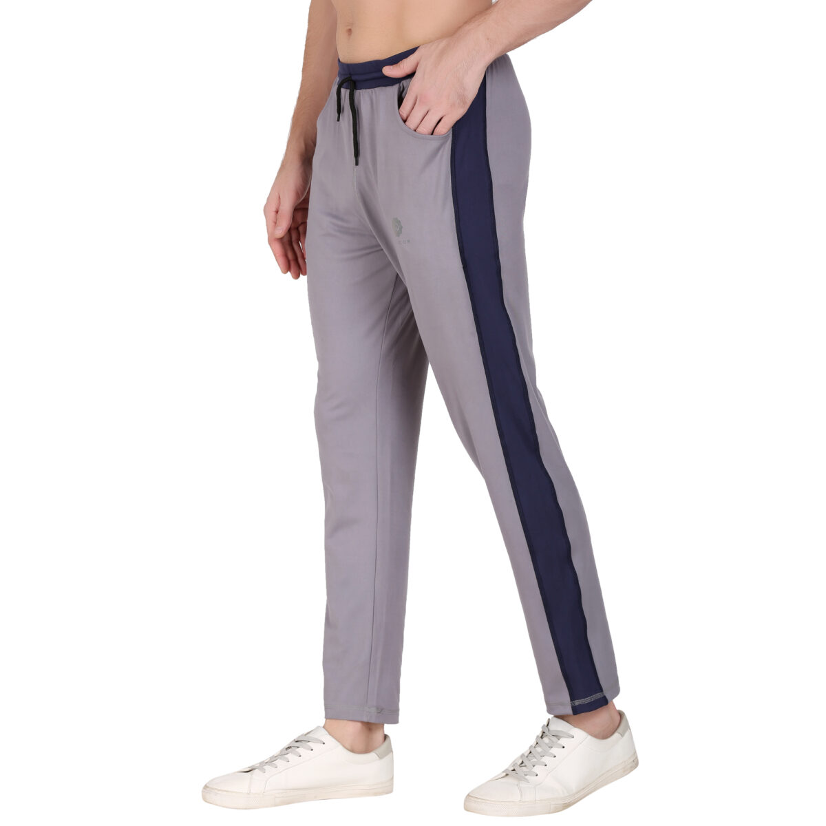 Solid Men Grey Men's Track Pants