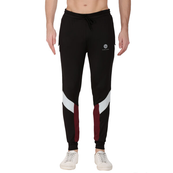 Solid Men Black, Maroon Track Pants