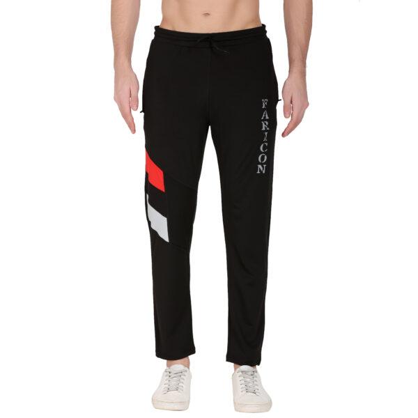 Solid Men Black, Red Track Pants