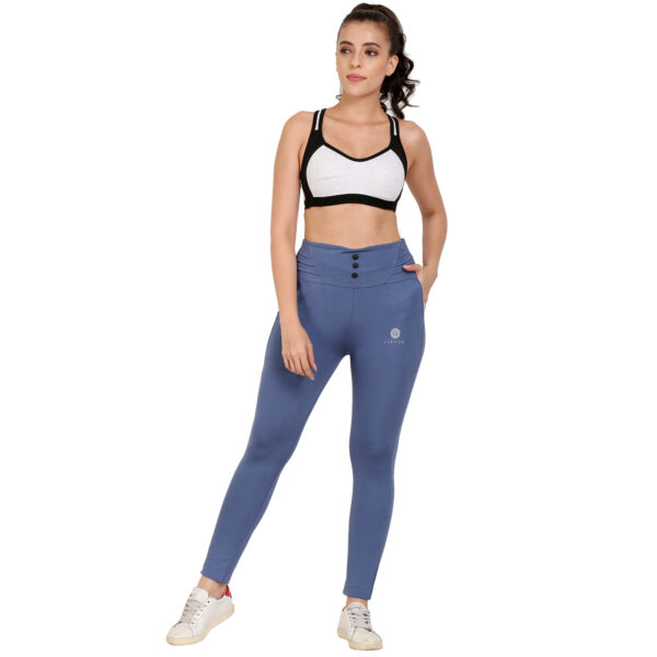 Solid Women Light blue Tights Jeggings