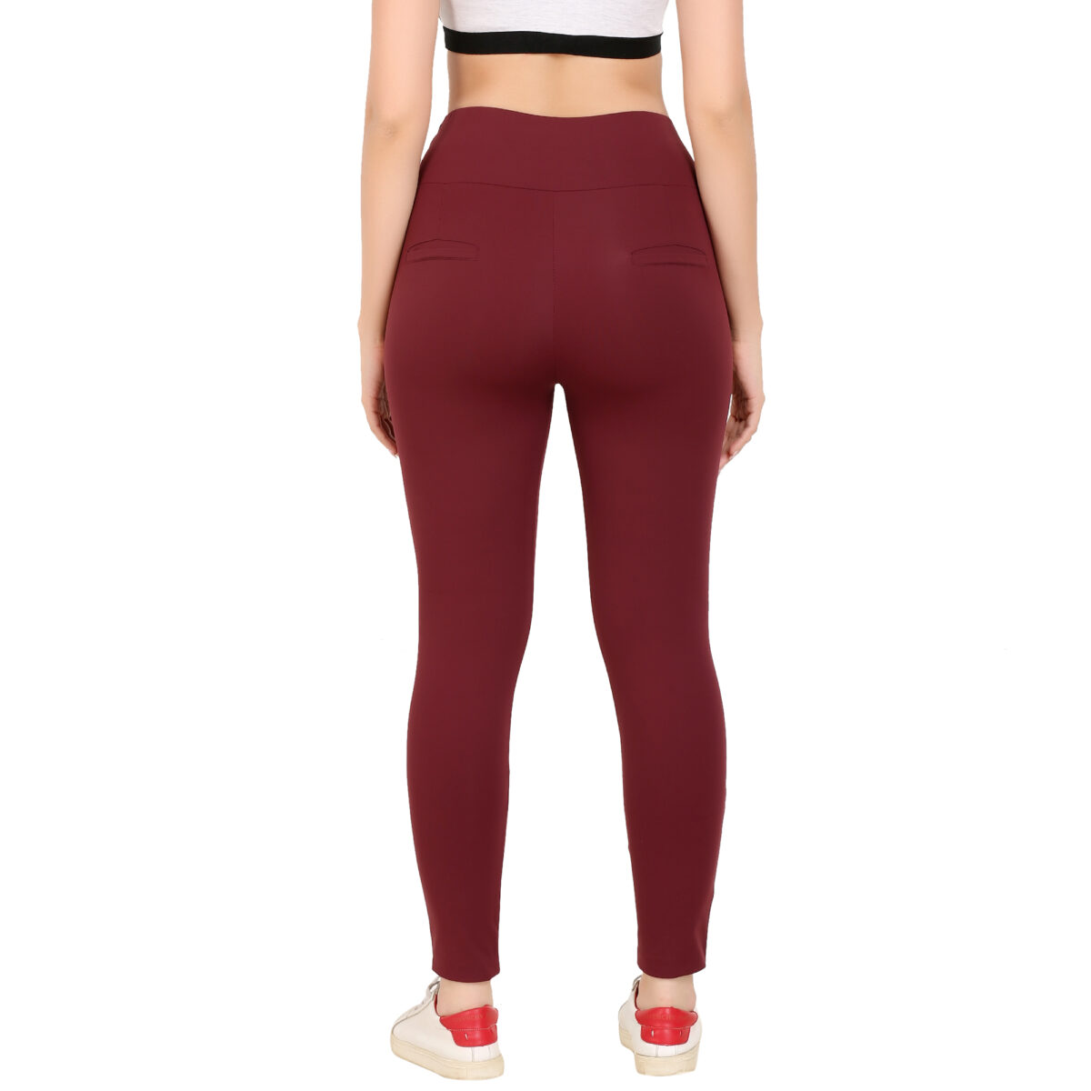 Solid Women Mahroon Jeggings