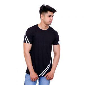 Full Sleeve Men Round Neck Black, Red T-ShirtColor Block Men Round Neck Black, White T-Shirt