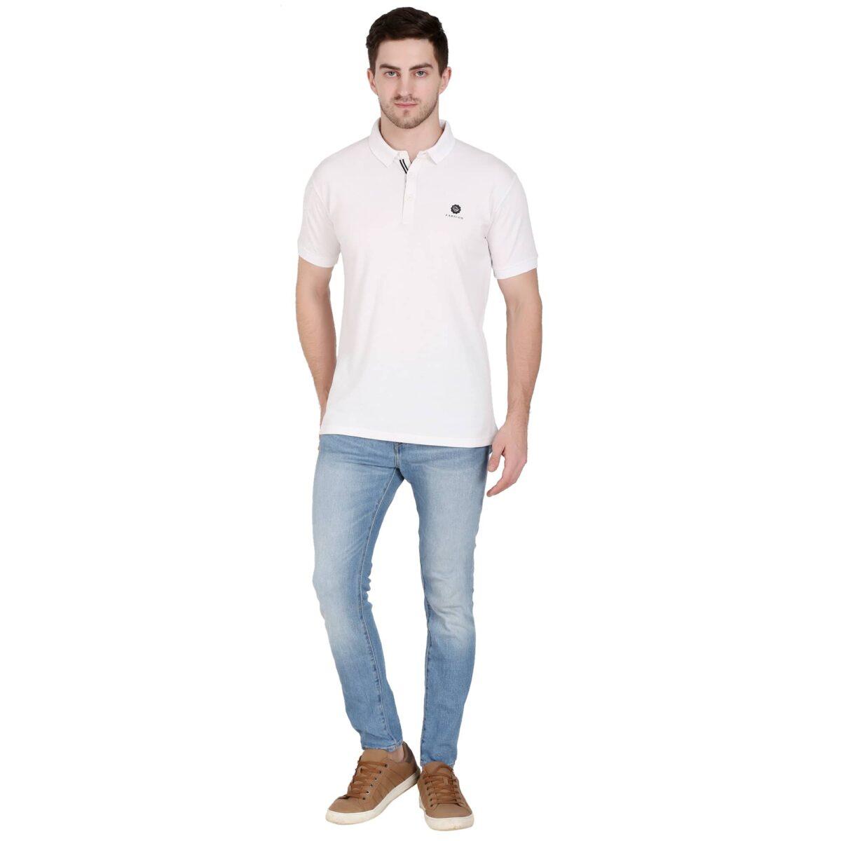 Solid Men V-neck Multicolor T-Shirt
