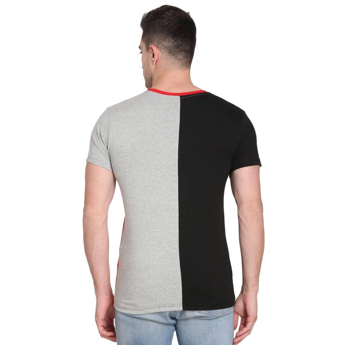 Solid Men Round Neck Multicolor T-Shirt