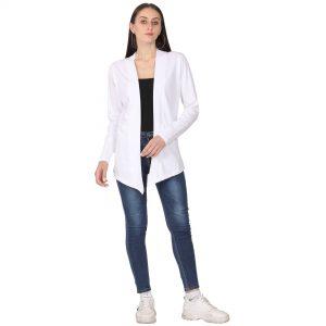 Women Full Sleeve White Shrug