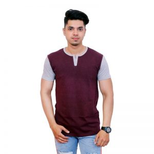 Solid Men Henley Neck T-Shirt