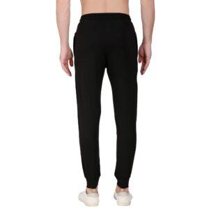 Solid Men Black Track Pants