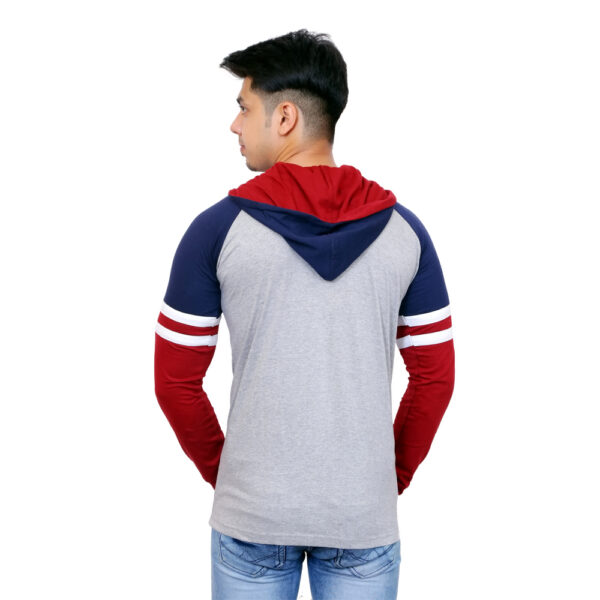 Solid Men Multicolor Hooded T-Shirt