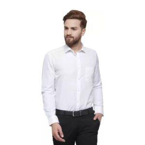Men Slim Fit Solid Slim Collar Formal Shirt
