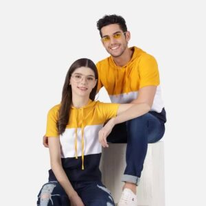 Couple Round Neck Full Sleeve T-Shirt (Pack of 2)
