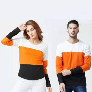 Couple Full Sleeve T-Shirt Multicolor T-Shirt