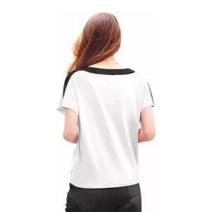 Women Solid Round Neck White T-Shirt