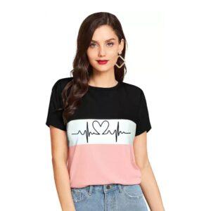 Printed Casual Regular Sleeves Women Multicolor Top