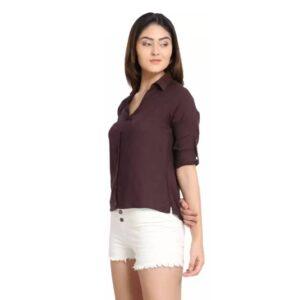 Women Regular Fit Solid Casual Shirt